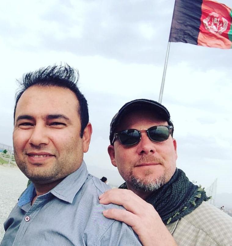 IMAGE: Zabihullah Tamanna and David Gilkey