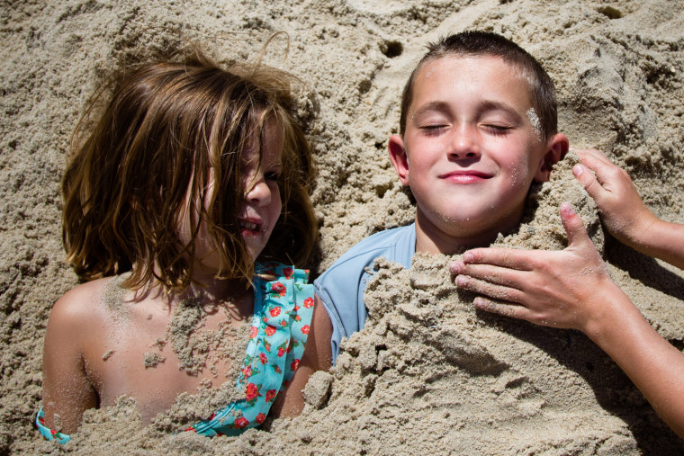 Wyatt says capturing kids' reactions to summer activities can be a touching way to preserve memories.