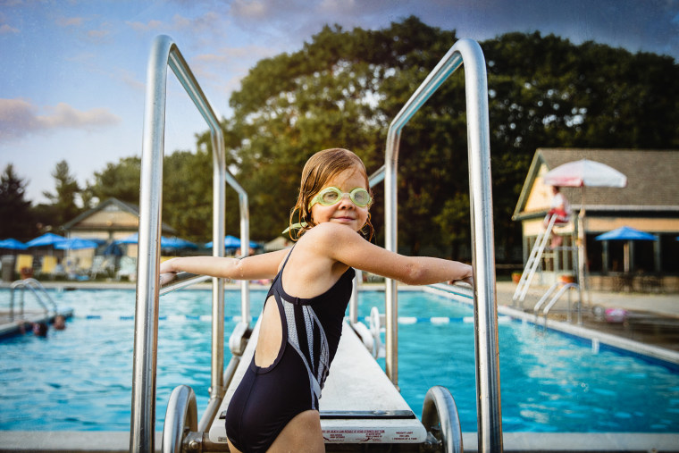 Wyatt says water photos - including images taken at the pool - are an essential part of summer photography.