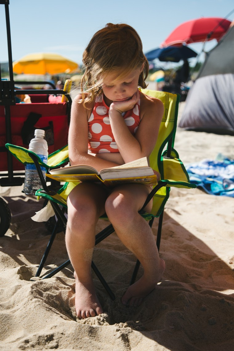 Wyatt says summer reading often makes for sweet photos, on the beach or anywhere.