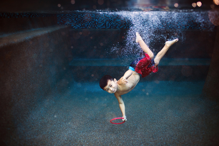 """""""If your kids practically live at the pool or beach during summer vacation, the strikingly unusual shots you'll be able to get (by using an underwater camera) will be worth it,"""" says Wilkerson."""