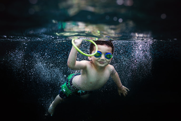 Wilkerson says parents can pick up an inexpensive, disposable, underwater camera to get some unique shots of summer pool days.