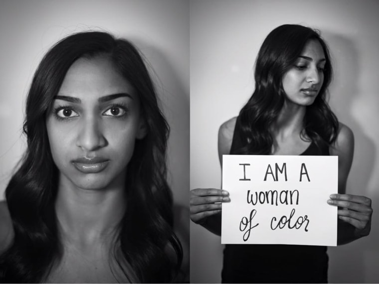 I am a woman of color.
