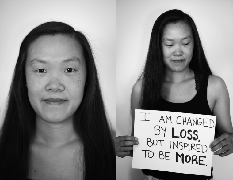 I am changed by loss, but inspired to be more.