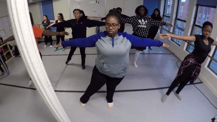 Hoda at Harlem dance studio