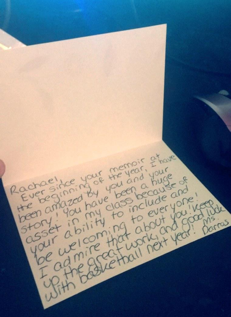 Colorado high school teacher who wrote heartfelt notes to more than 100 students