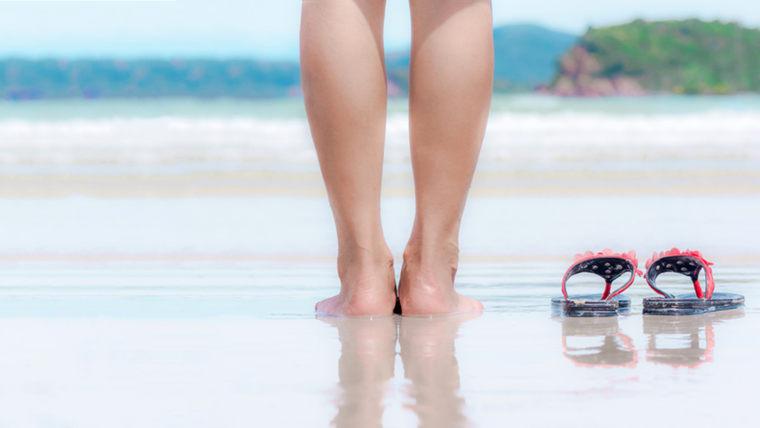 woman, legs, beach, ocean