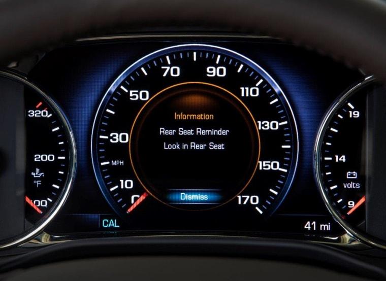 GMC rear seat reminder