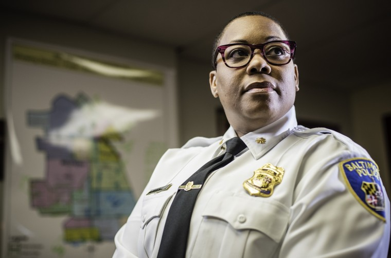 Maj. Sheree Briscoe of the Baltimore City Police Dept. is the newest commander of the city's Western District.