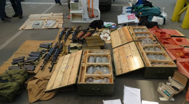 Image: Weapons seized by the police