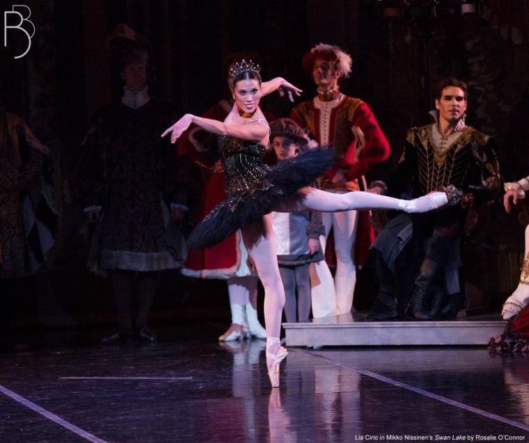 "Lia Cirio performing in \""Swan Lake\"""
