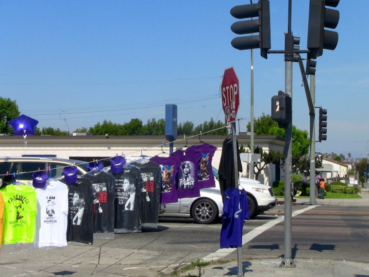 There are fewer election t-shirts hanging for sale along Crenshaw Blvd. in South Los Angeles in 2016 than there were in 2008.