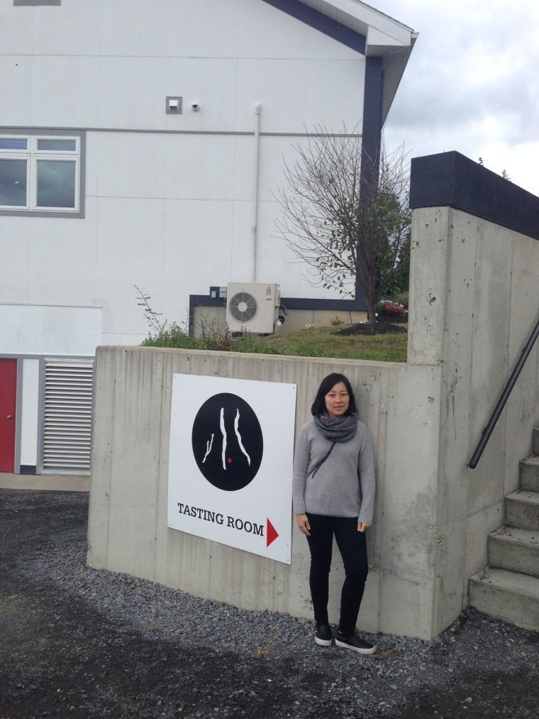 Carolyn Kim at the upstate New York distillery where Yobo is made.