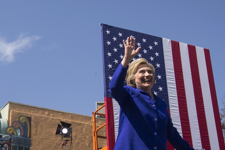 Image: Hillary Clinton Attends Get Out The Vote Rally In Los Angeles