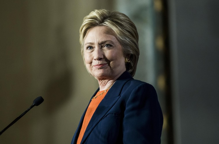 Image: Democratic Presidential candidate former Secretary of State Hillary Clinton