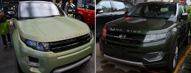 Image: Range Rover Evoque and Jiangling LandWind X7