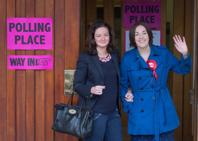 Image: Scottish Labour Leader Kezia Dugdale Casts Her Vote