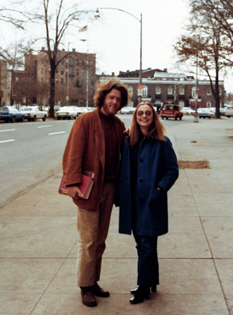 Image: Bill Clinton and Hillary Rodham at Yale