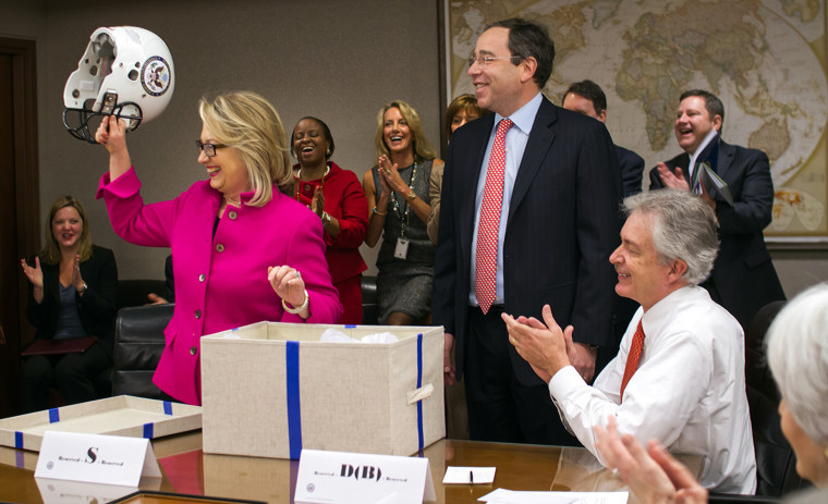 Image: US-DIPLOMACY-CLINTON-HEALTH