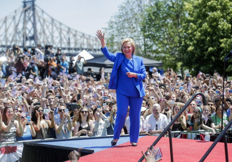 Image: Hillary Clinton makes official campaign launch speech in New York