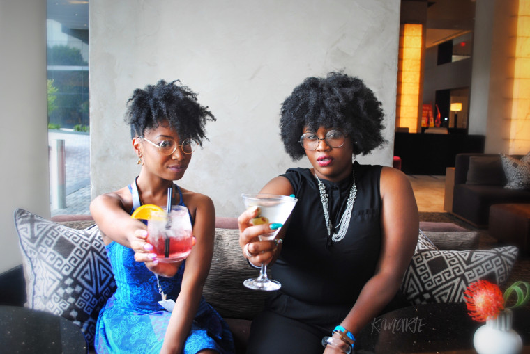 """Taneka Reaves and Johnny Caldwell, the chef duo better known as """"Cocktail Bandits"""" at the Atlanta Food & Wine Festival"""