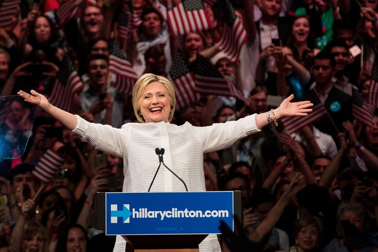 Image: Hillary Clinton Holds Primary Night Event In Brooklyn, New York