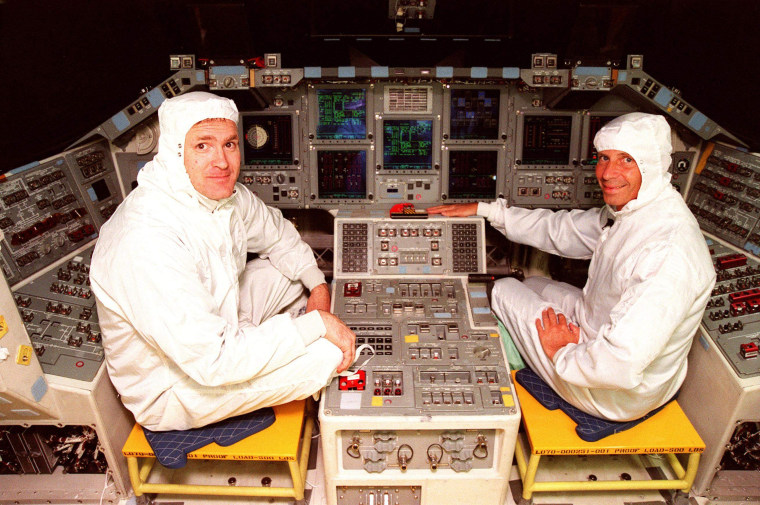 Image: James Halsell and Ken Cockrell in April 1999