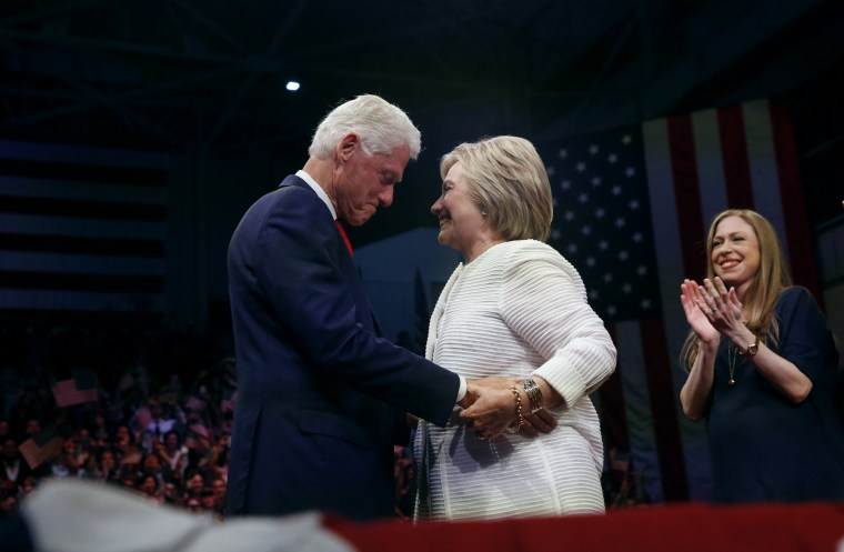 Image: Democratic U.S. presidential candidate Hillary Clinton speaks in New York
