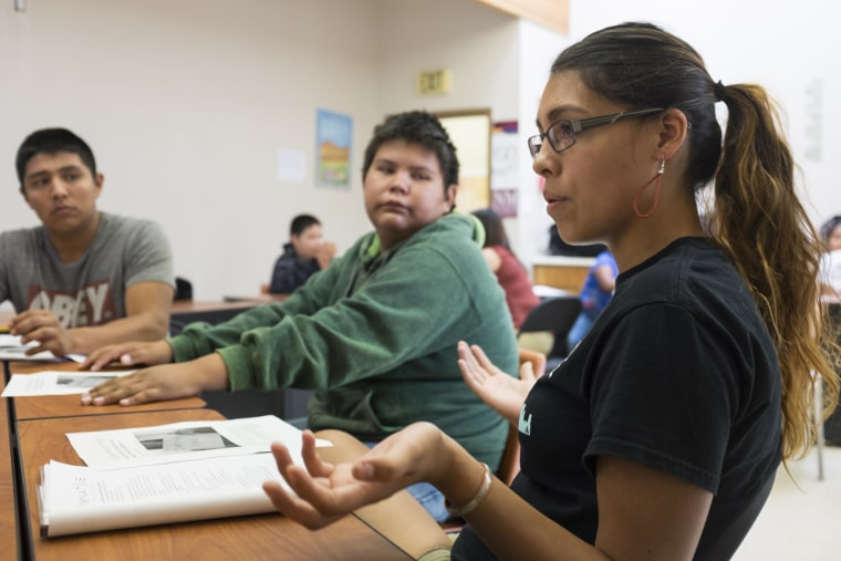 Students from Columbia University mentor high school and younger students on New Mexico's Native American communities via a program called AlterNative which aims to reduce the drop-out rate and encourage college enrollment.