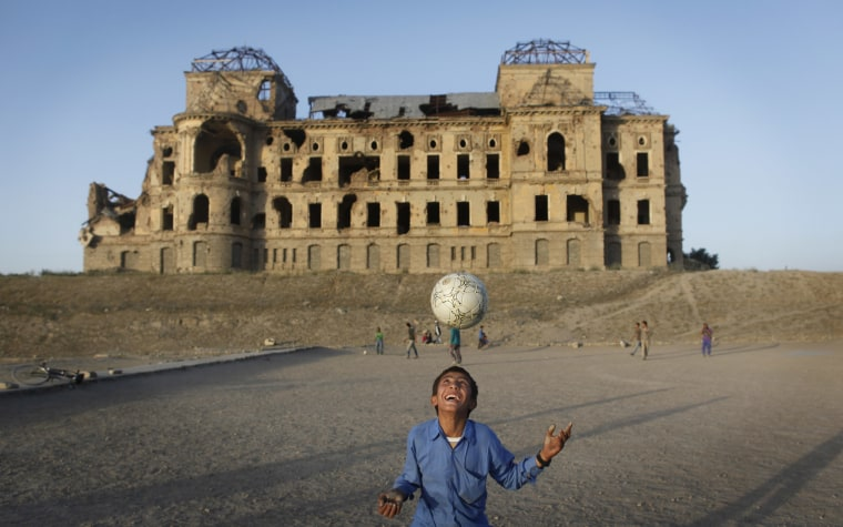 With collapsed roofs and bullet-strewn crumbling walls, the derelict Darul Aman Palace has become a symbol of failed attempts to bring peace to war-torn Afghanistan.