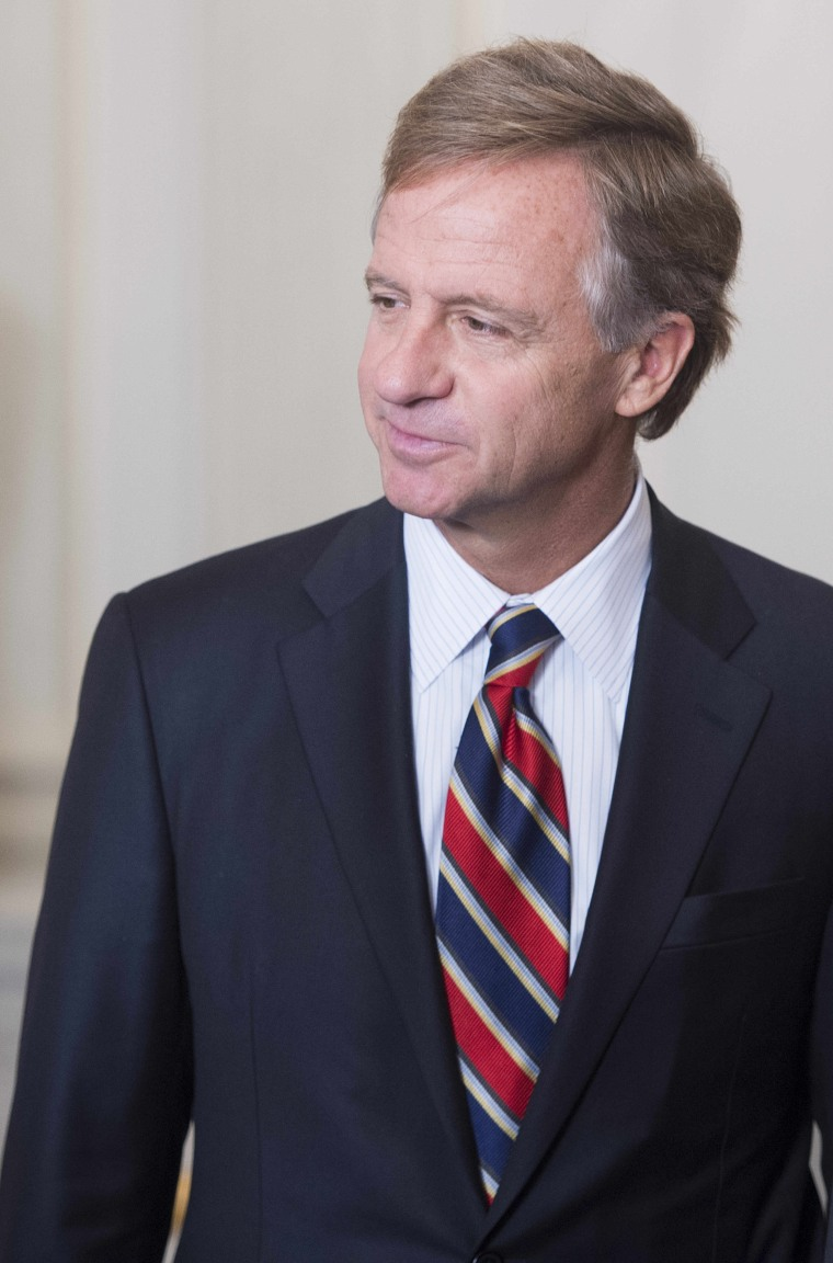Tennessee Governor Bill Haslam speaks during a meeting of the National Governors Association at the White House in Washington, DC, February 23, 2015.