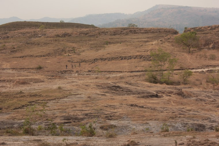 Landscape near Meta Mange, Flores, Indonesia where 700,000-year-old hominin fossils were found