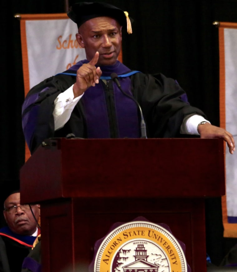 Johnny C. Taylor, Jr. delivers the commencement speech at Alcorn State University May 7, 2016.