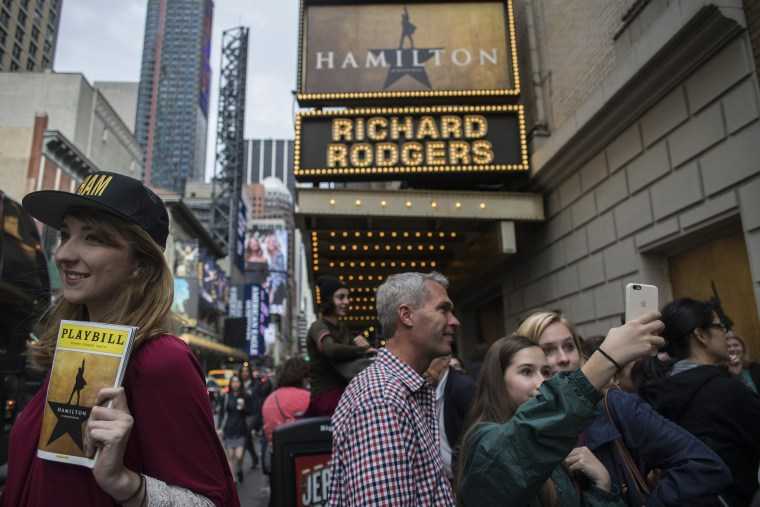 Tourists In Times Square Ahead Of Theater Ticket Sales Figures