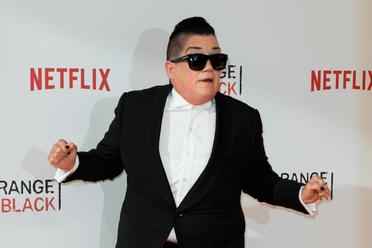 Lea DeLaria during the 'Orange is the New Black' Europe Premiere at Kino in der Kulturbrauerei on June 7, 2016 in Berlin, Germany.