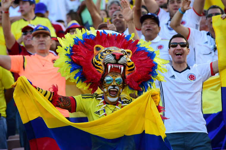 Colombian Soccer Fan Before Match Against Paraguay
