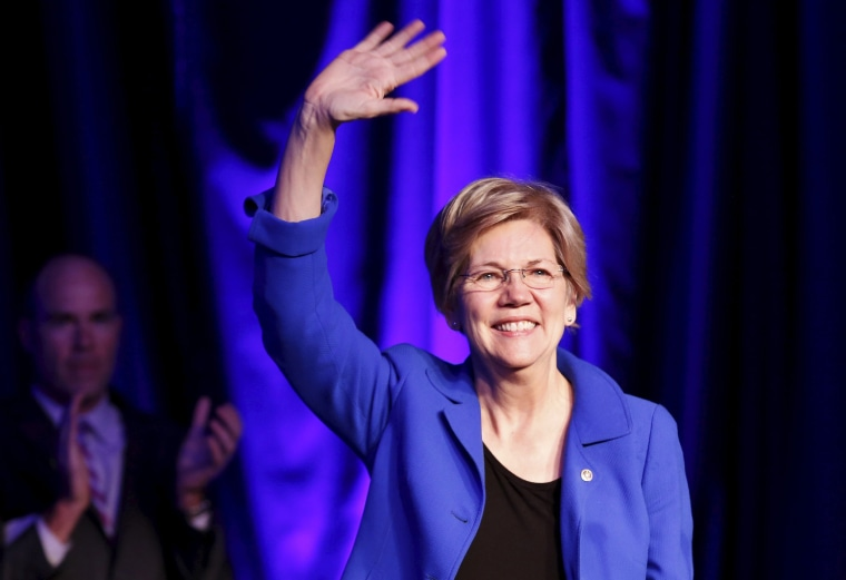 Image: Senator Warren waves at the BlueGreen Alliance Foundation's 2015 Good Jobs, Green Jobs Conference