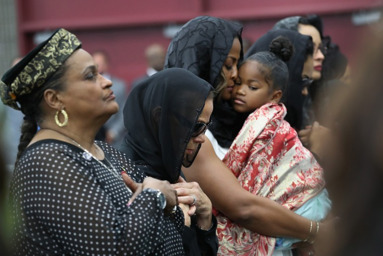 Image: Islamic Funeral Prayer Program Held For Muhammad Ali In Louisville