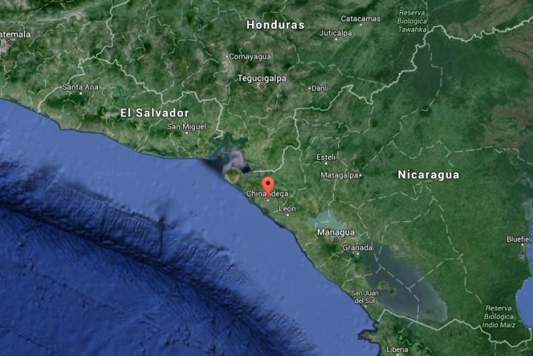 Image: Map of northwestern Nicaragua