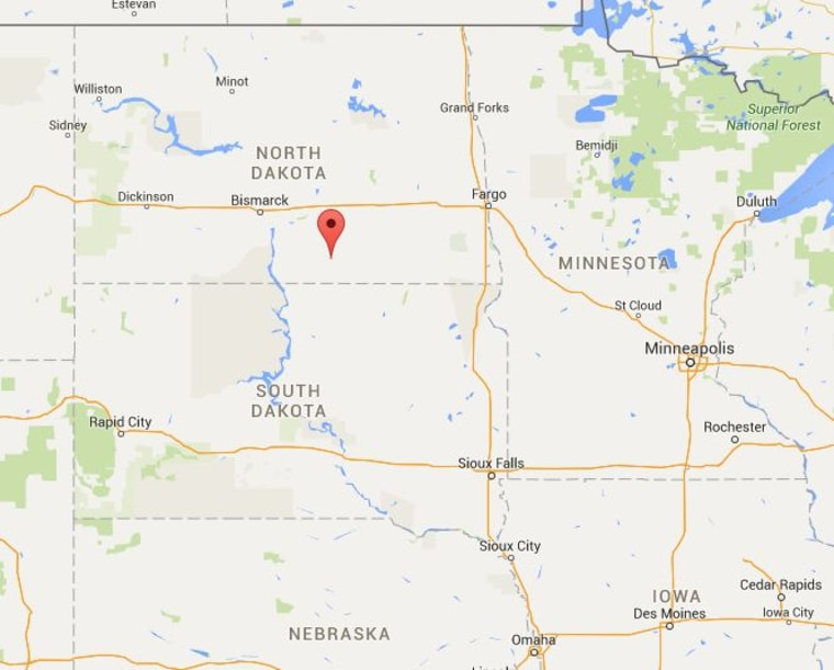 Image: Map showing North Dakota's May Lake