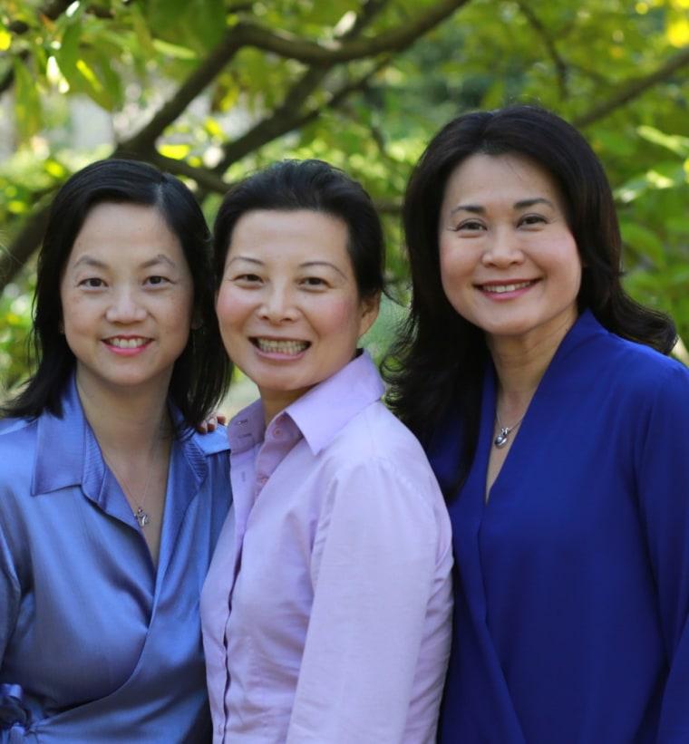 Dr. Sophia Yen, Perla Ni, and Celia House, three of the four founders of Pandia Health