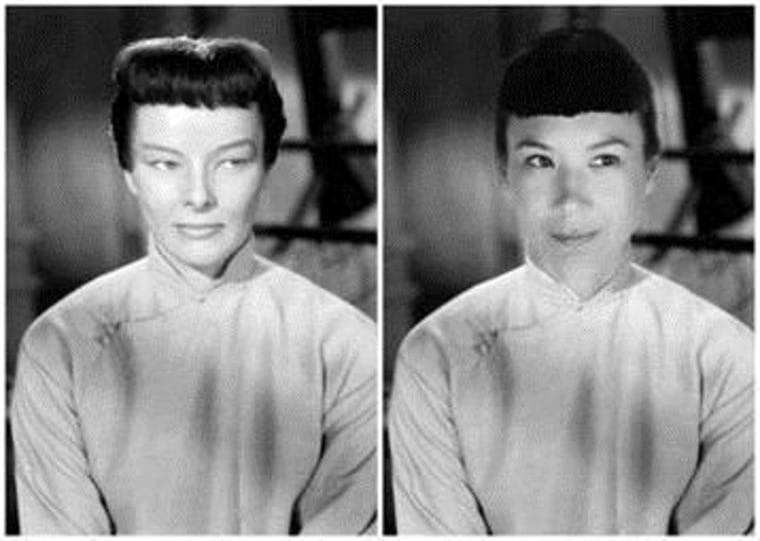 """Villemaire replacing Katharine Hepburn as Jade in """"Dragon Seed."""""""