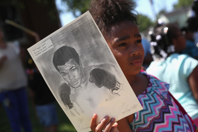 Funeral Held For Boxing Legend Muhammad Ali In His Hometown Of Louisville, Kentucky