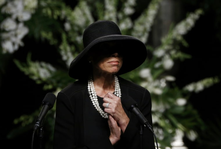 Image: Lonnie Ali, the wife of Muhammad Ali, speaks at a memorial service for the late boxer in Louisville, Kentucky