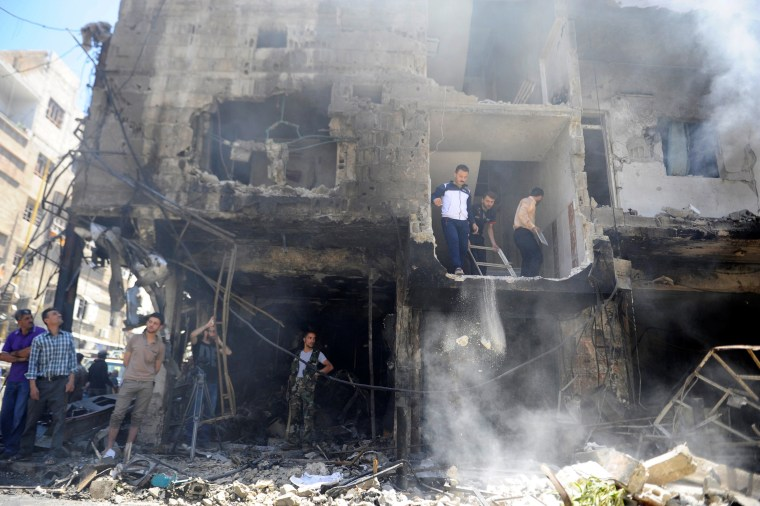 syria bomb site a