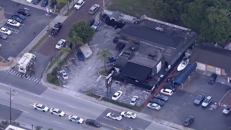 Aerial view of the Pulse Nightclub.