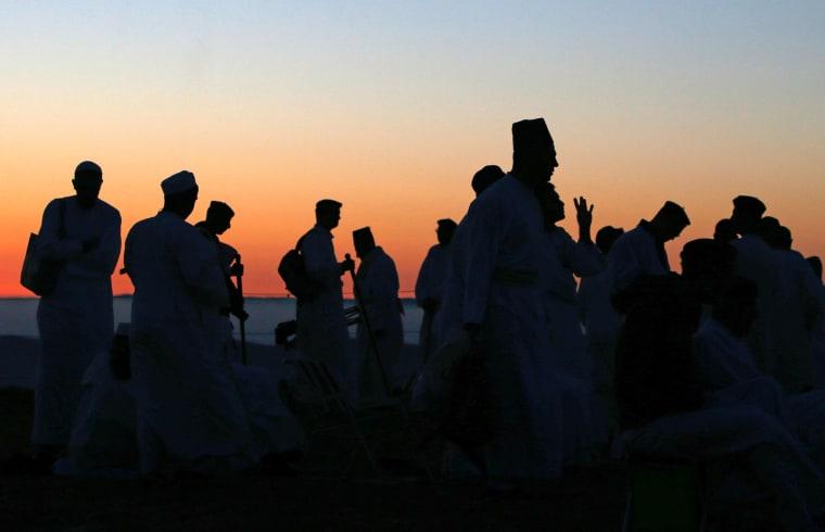Image: TOPSHOT-PALESTINIAN-ISRAEL-RELIGION-SAMARITANS-SHAVUOT