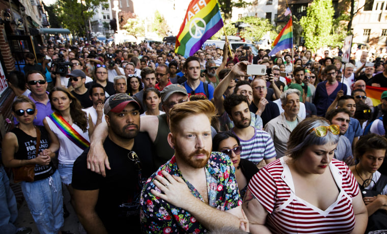 Image: Vigil in New York at Stonewall inn for Orlando Shooting Vicitms