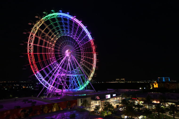 Image: Orlando Eye Rainbow Lights