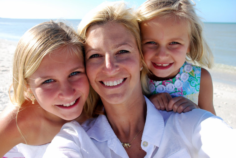 Tricia Morrow and her daughters.